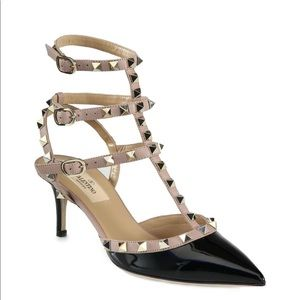 Valentino rockstud patent leather slings size 37/7